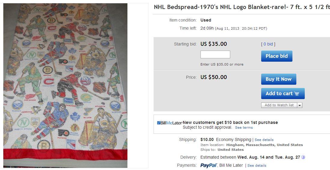 70s NHL blanket