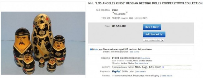 LA Kings Russian Nesting Dolls
