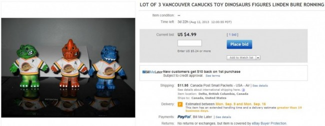 Vancouver Canucks Pavel Bure Trevor Linden Cliff Ronning Dinosaurs