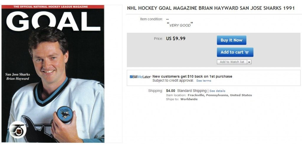 Brian Hayward Goal Magazine LA Kings - Hockey Hoarders