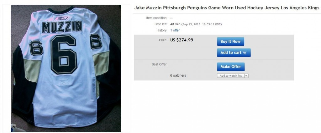 Jake Muzzin Pittsburgh Penguins Jersey LA Kings - Hockey Hoarders