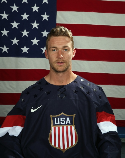 ARLINGTON, VA - AUGUST 26:  Trevor Lewis poses after being named a candidate for the 2014 USA Hockey Olympic Team at the Kettler Capitals Iceplex on August 26, 2013 in Arlington, Virginia.  (Photo by Bruce Bennett/Getty Images)