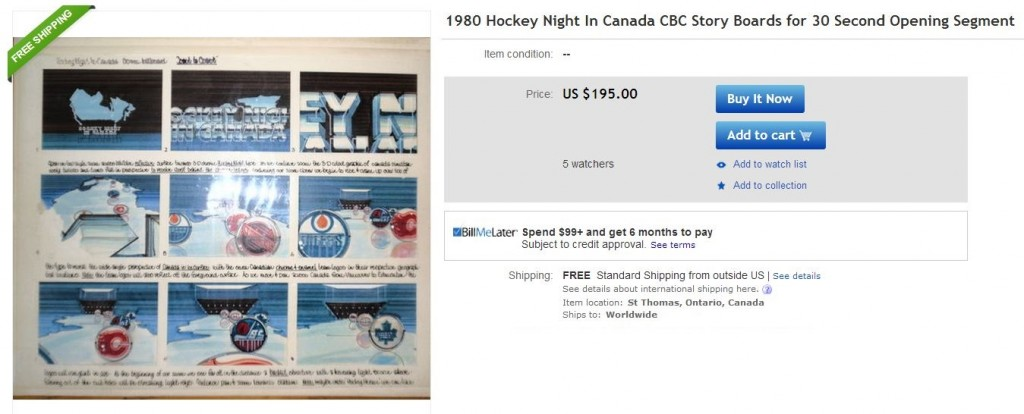 1980 Hockey Night in Canada Story Boards - Hockey Hoarders