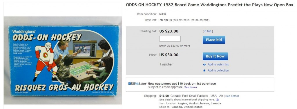 Odds on Hockey Board Game - Hockey Hoarders