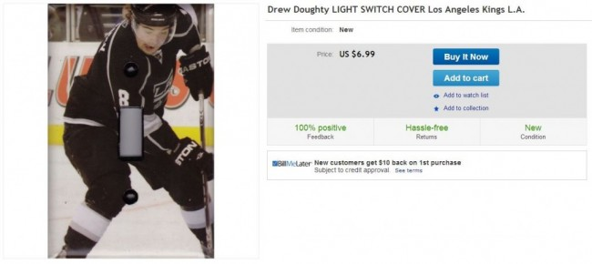 Drew Doughty Erection Light Switch LA Kings - Hockey Hoarders