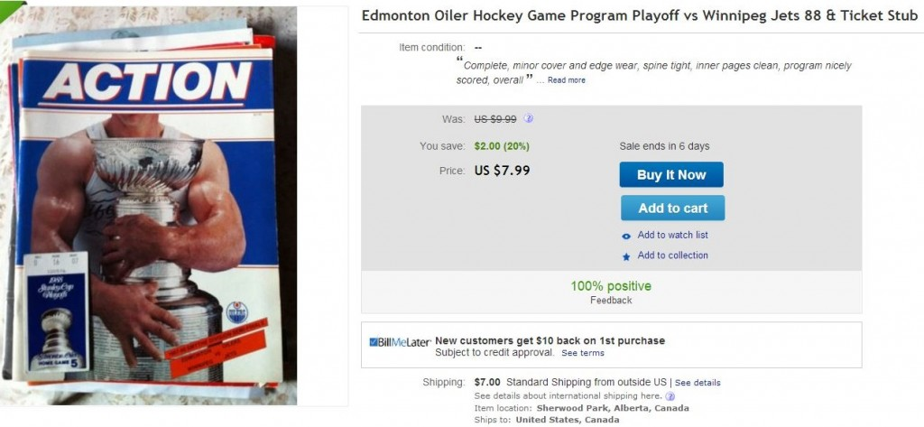 Edmonton Oilers Homoerotic Program - Hockey Hoarders
