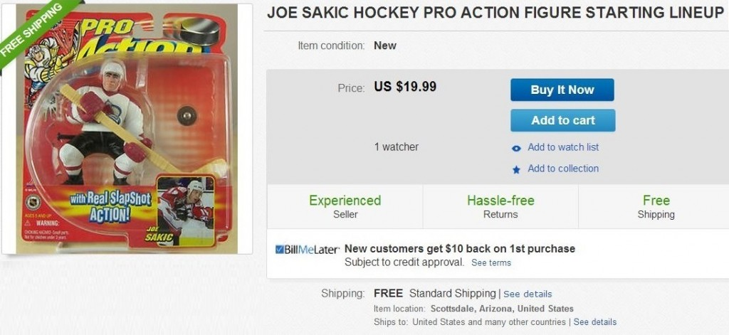 Joe Sakic - Ugly Action Figure -  Hockey Hoarders