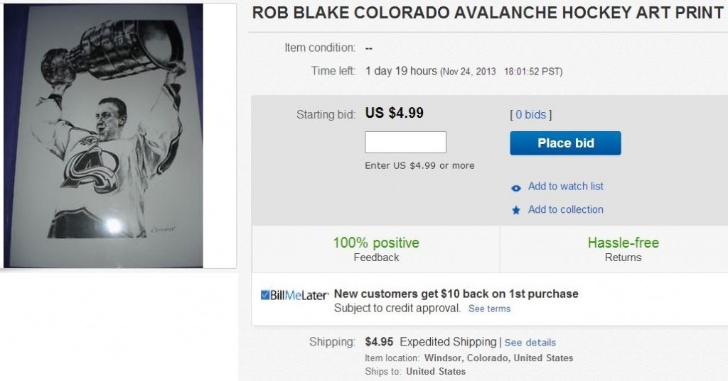 Rob Blake - Colorado Avalanche Stanley Cup -  Hockey Hoarders