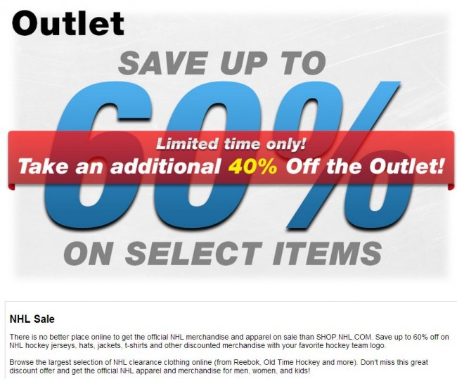 NHL Outlet - NHL Clearance Items - Hockey Hoarders