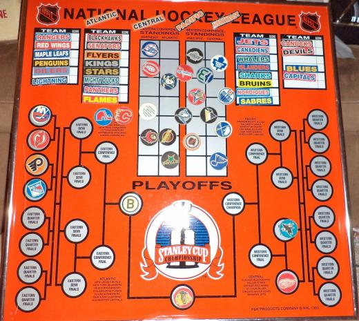 1993 Magnetic NHL Hockey Board teams - The Royal Half