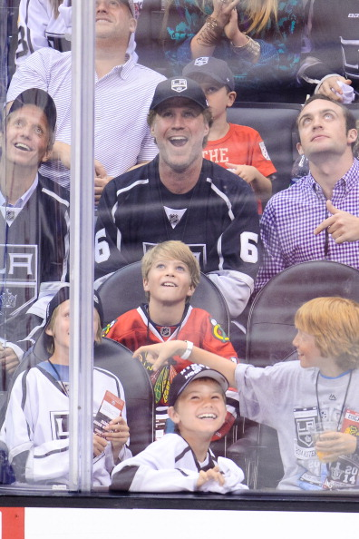 Celebrities At The Los Angeles Kings Game