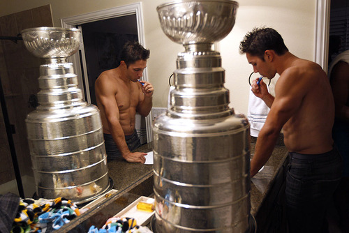 Defenseman Alec Martinez: Washing up