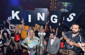 LA Kings And Stanley Cup Celebrate At BEACHERS Madhouse At MGM In Las Vegas