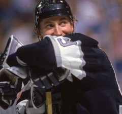 Wayne Gretzky On The Ice