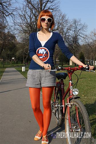 islanders girl orange tights