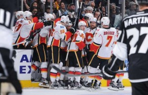 Flames win 2-1 in OT over Kings