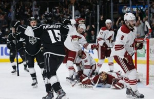 Kings shutout Coyotes 1-0 Andreoff first career goal