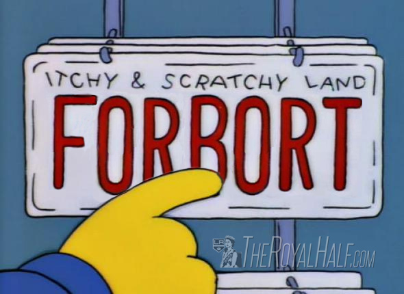 Forbort License Plate