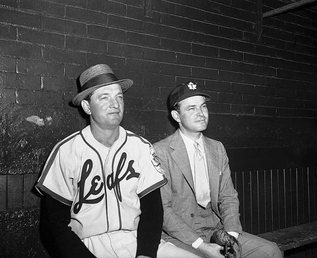 800px-Jack_Kent_Cooke_with_baseball_player_in_Toronto_Maple_Leafs_Baseball_Club_dugout,_Maple_Leaf_Stadium